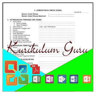 Download Format Buku Induk Siswa Semua Jenjang ( TK, SD, MI, SMP, SMA) Terbaru