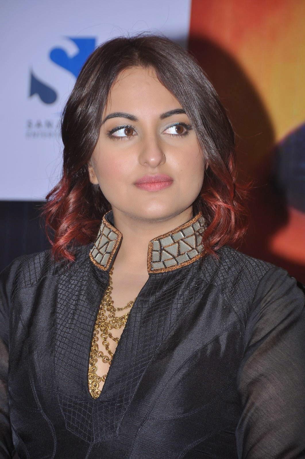 Sonakshi Sinha Latest Photos In Black Dress At Tevar Movie -3026