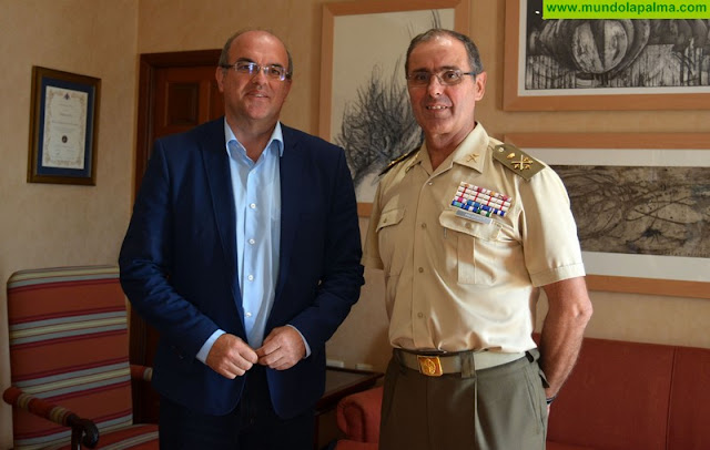 El Cabildo ofrece su máxima colaboración al nuevo jefe del Mando de Canarias
