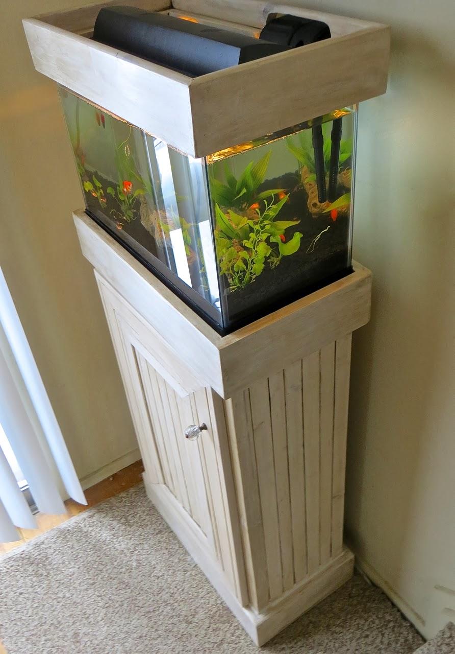 The Project Lady Custom Wood Aquarium Stand  Hood Project