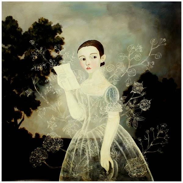 De Repente, Durante a Leitura - Anne Siems e suas pinturas com figuras transparentes