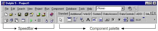 Kelas Informatika - Speedbar dan Component Palette