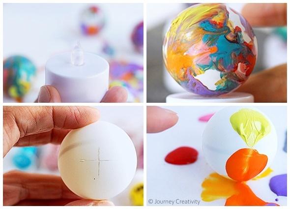 manualidades, pelotas, ping pong, diys, reciclar, luces