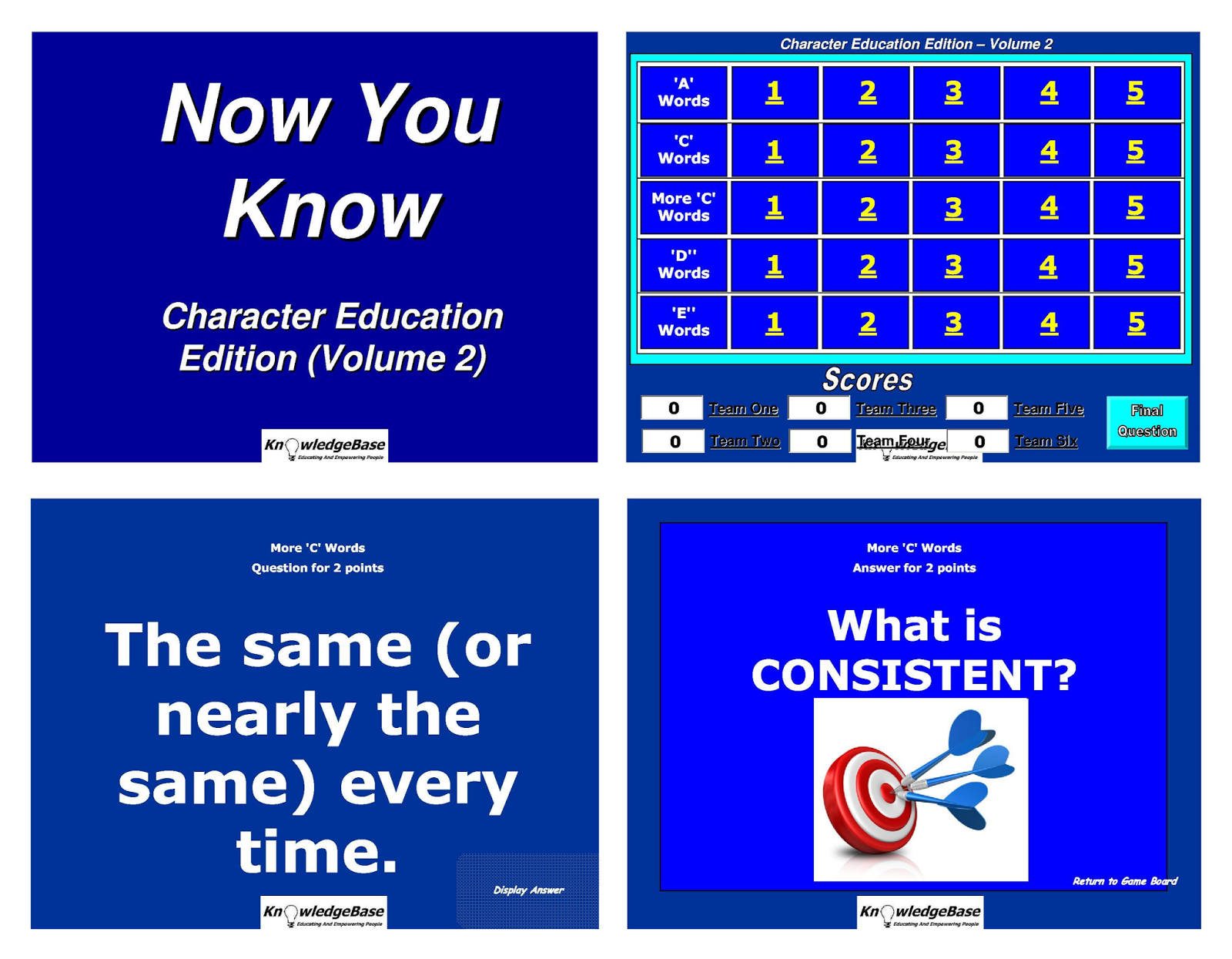 Reachthenteach Character Education Crossword Puzzles
