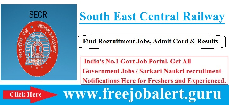 South East Central Railway Recruitment 2016-17 | Specialist | GDMO Post Selection process will be based on Written Test