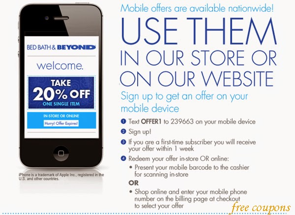 Bed bath beyond coupon online shopping