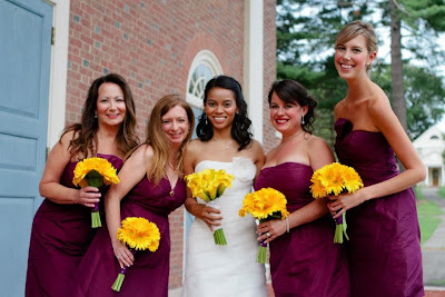 Michelle Judd Rittler and Bridesmaids - Seymour St. John Chapel - Choate Rosemary Hall - Wallingford, CT | Photo Courtesy Brian Samuels Photography
