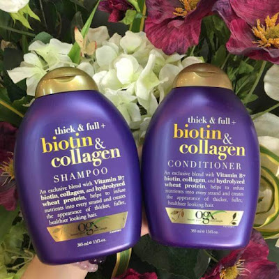dau goi va dau xa Thick & Full Biotin Collagen OGX