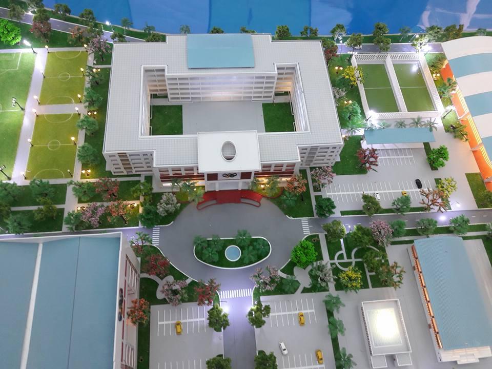 Khối nhà điều hành trường Đại học Sư Phạm TDTT TP. HCM tại xã Nhơn Đức, Nhà Bè