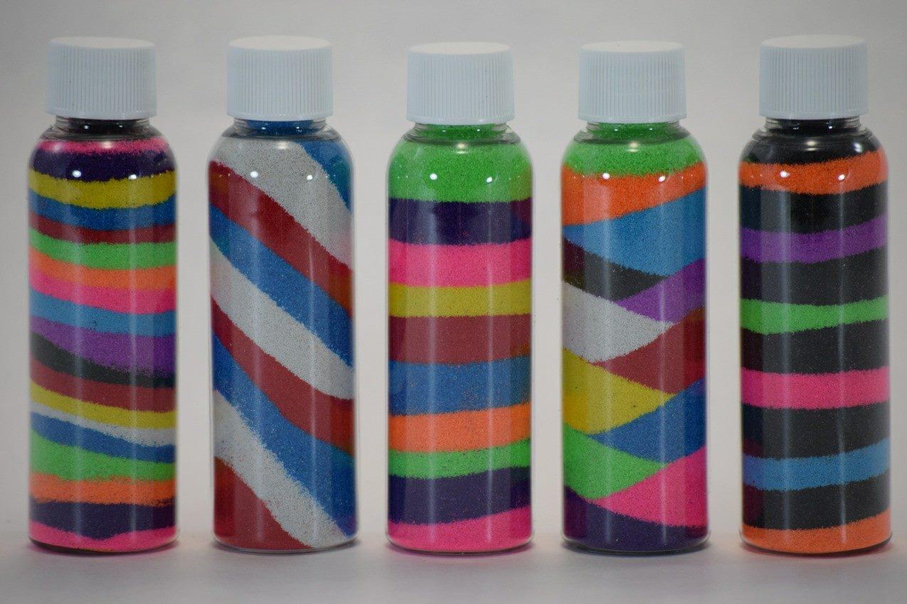 Arte con arena de color construccion y manualidades - Arena de colores ...