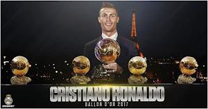 كريستيانو رونالدو يفوز بجائزة الكرة الذهبية كأفضل لاعب 2017