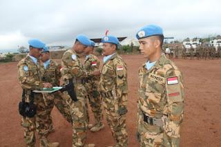 Kontingen Garuda XXXVII-C Gelar Upacara HUT ke-71 TNI di Afrika Tengah