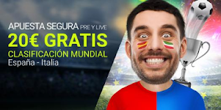 Luckia Apuesta segura España vs Italia 2 septiembre