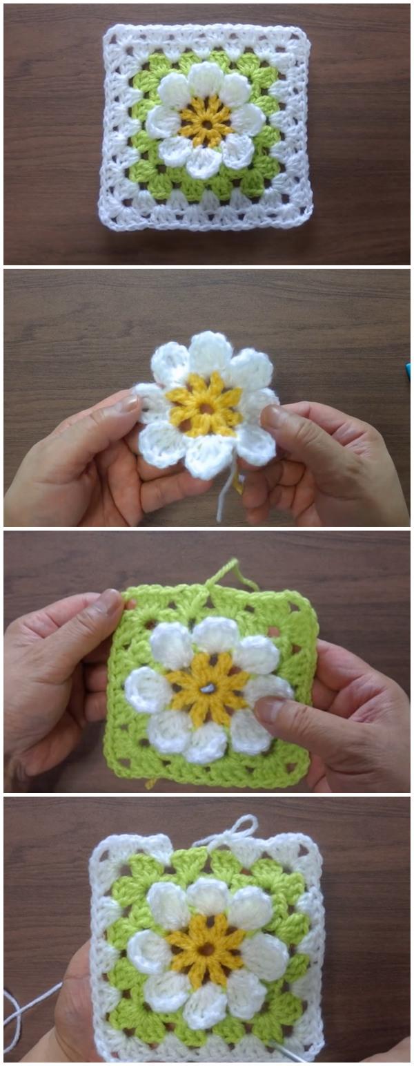 Flower Motif Crochet Tutorial