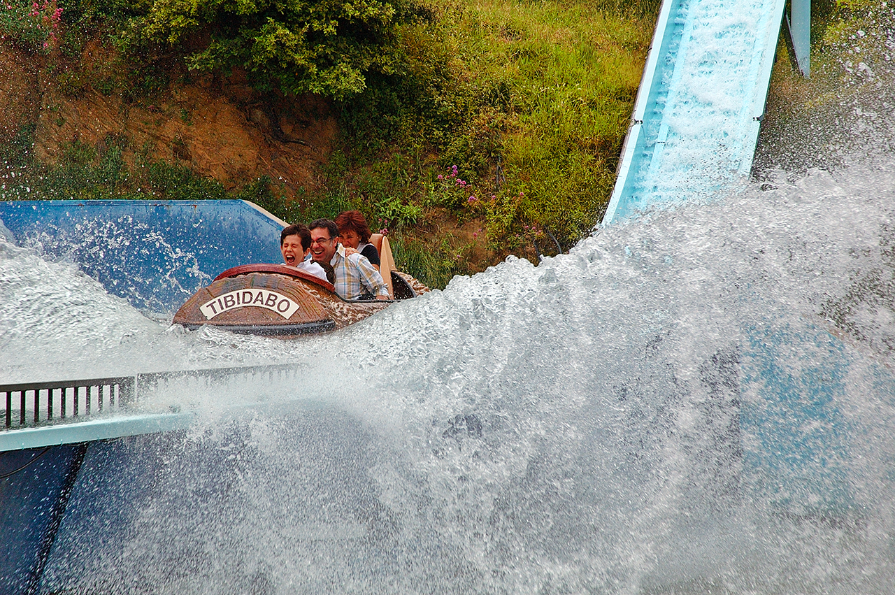 Log Flume Thrill - Tibidabo Amusement Park