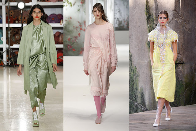 Spring/Summer 2018 Fashion Shows Pastel Trends