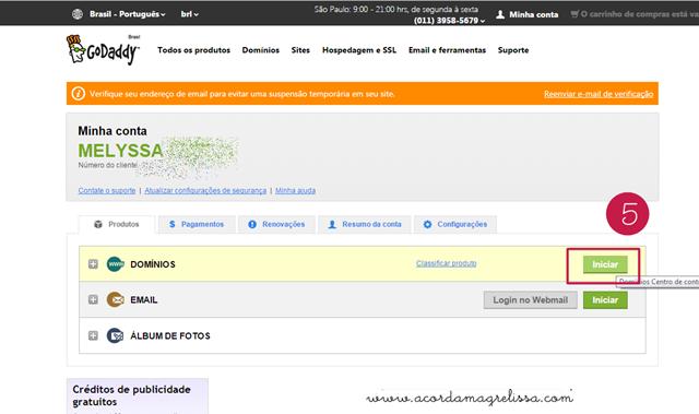 tutorial configurar domínio godaddy blogger