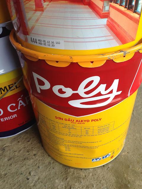 Sơn dầu Poly màu vàng 444