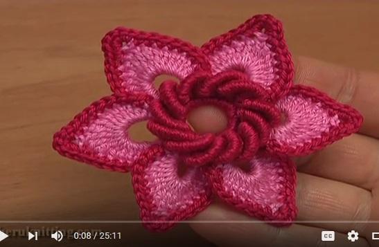 Flor Muy Bella A Crochet Paso A Paso Con Video Tutorial Patrones