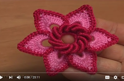 FLOR MUY BELLA A CROCHET PASO A PASO CON VIDEO TUTORIAL