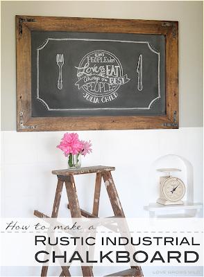 DIY Rustic Chalkboard Tutorial