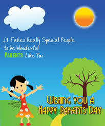 Parents day greeting card