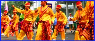 Rudat Seni tari dan nyanyian yang diiringi rebana, di daerah Jawa Barat. Lagu-lagunya berisi ajaran kepercayaan Istam