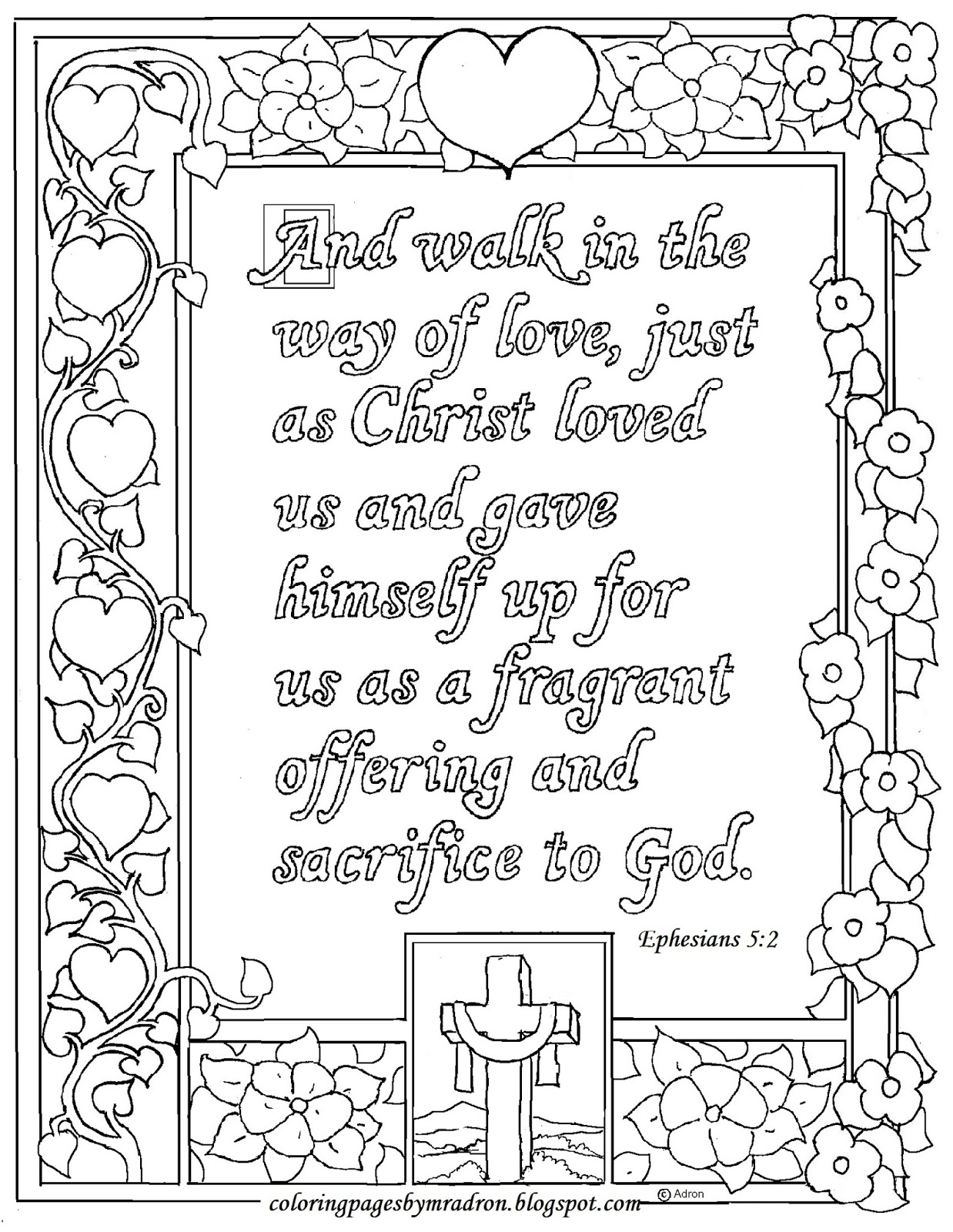 Coloring Pages For Kids By Mr Adron Ephesians 5 2 Print