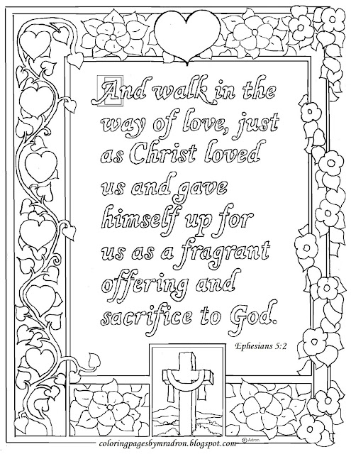 Coloring Pages for Kids by Mr. Adron: Ephesians 5:2 Print