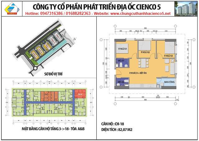 Sơ đồ thiết kế căn 18 chung cư B2.1 HH02A&B Thanh Hà Cienco 5