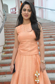 Actress Miya George Stills at United Kireeti Movies Ltd Production No 8 Movie Opening 0015.jpg
