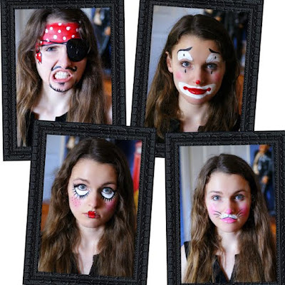 Four Easy Halloween Face Painting Tutorials
