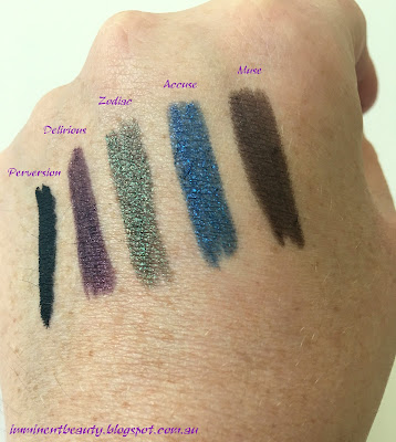 Urban Decay 24/7 Glide-On Eye Pencil - Travel Size Set of 5 - Delirious swatches