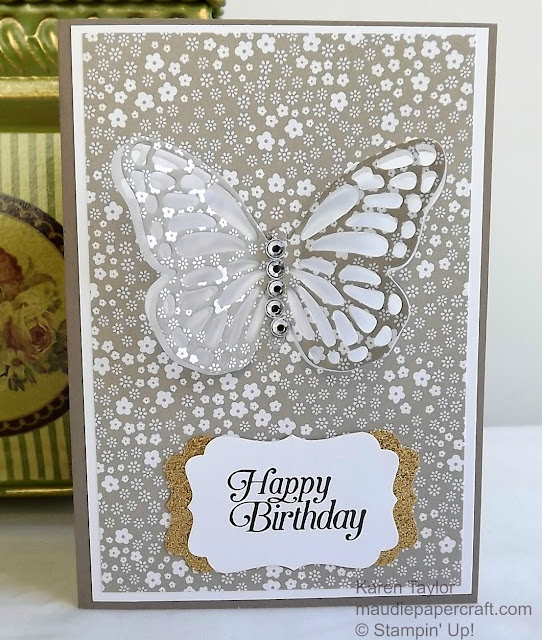 Stampin' Up! Butterflies thinlits card