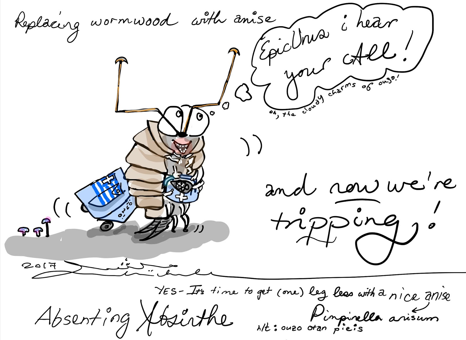 In Absinthe, a cartoon with Dilly, the wood louse
