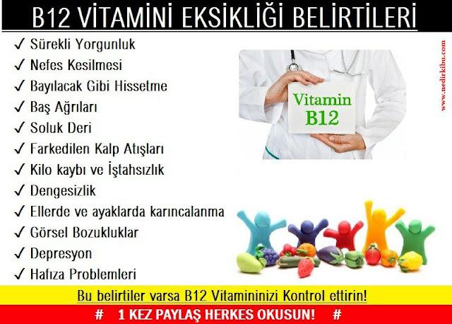B12 Vitaminin Faydaları ve B12 Vitaminin Önemi