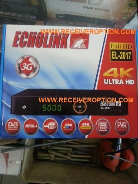 ECHOLINK EL-2017 HD RECEIVER BISS KEY OPTION