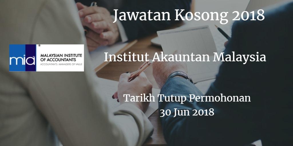 Jawatan Kosong MIA 30 Jun 2018