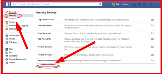 How can you delete your facebook account ccuart Gallery