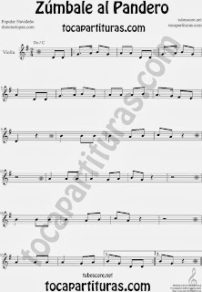 Partitura de Zúmbale al Pandero para Violín by Sheet Music for Violin Music Scores Music Scores