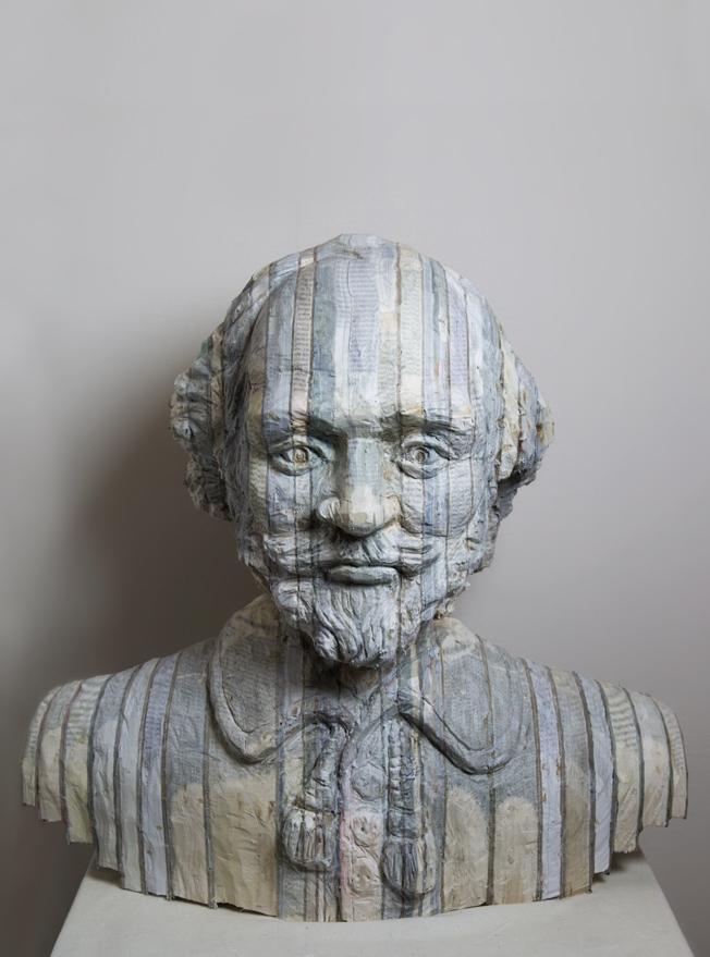 08-Shakespeare-Long-Bin-Chen-A-Second-Life-for-Recycled-Book-Sculpting-www-designstack-co