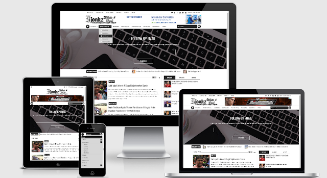 Ijonkz White & Dark Responsive Blogger Template