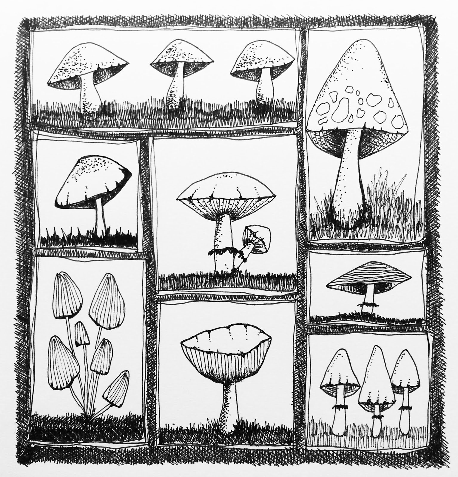 how to draw a mushroom easy