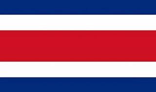 Dibujo de la bandera de Costa Rica a colores