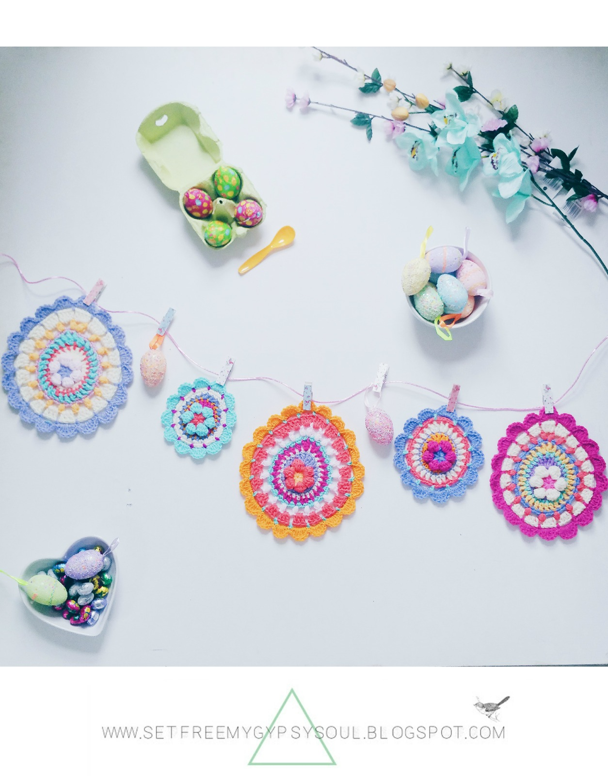 easter egg crochet mandala free pattern bohemian