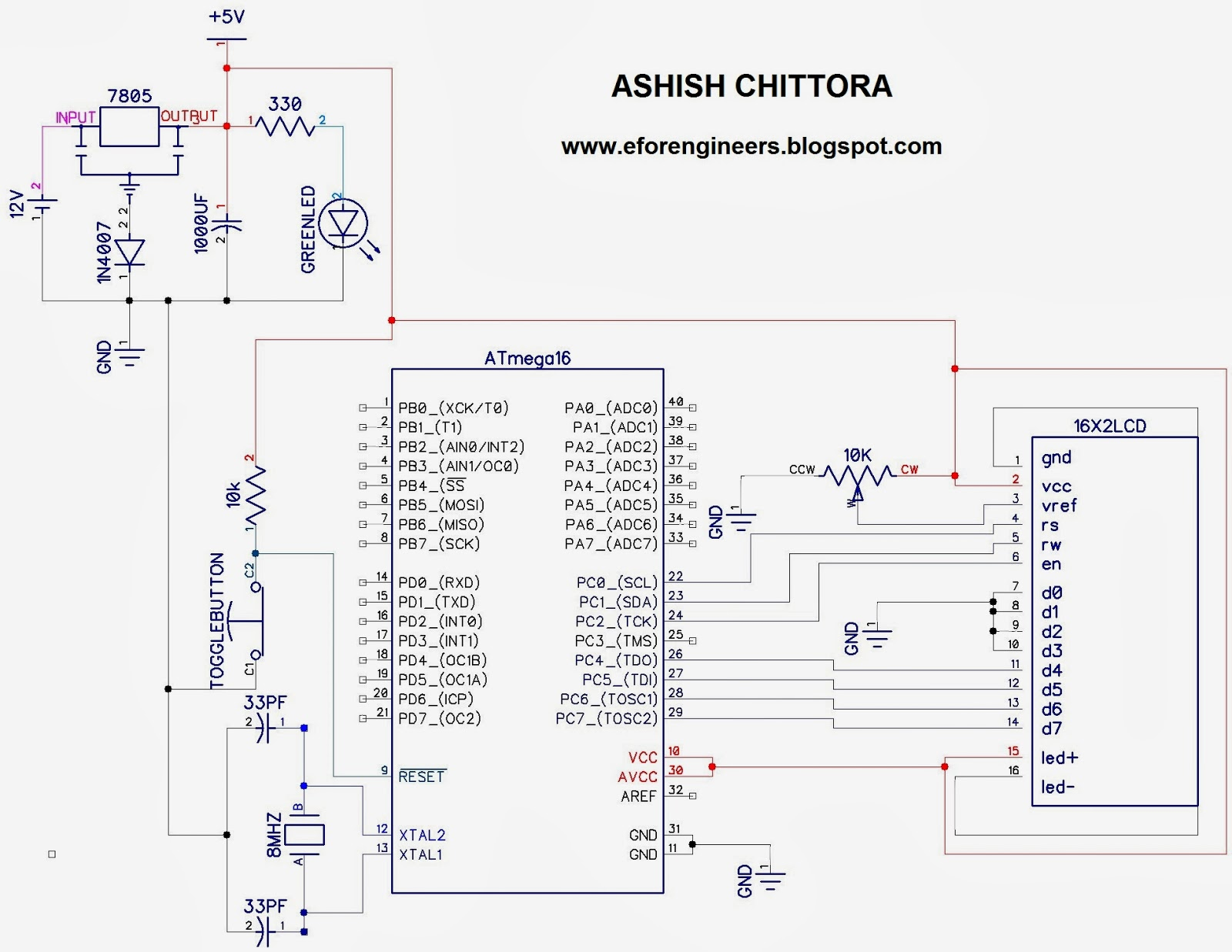 PROJECTS FOR YOU: DIGITAL CLOCK USING ATmega16