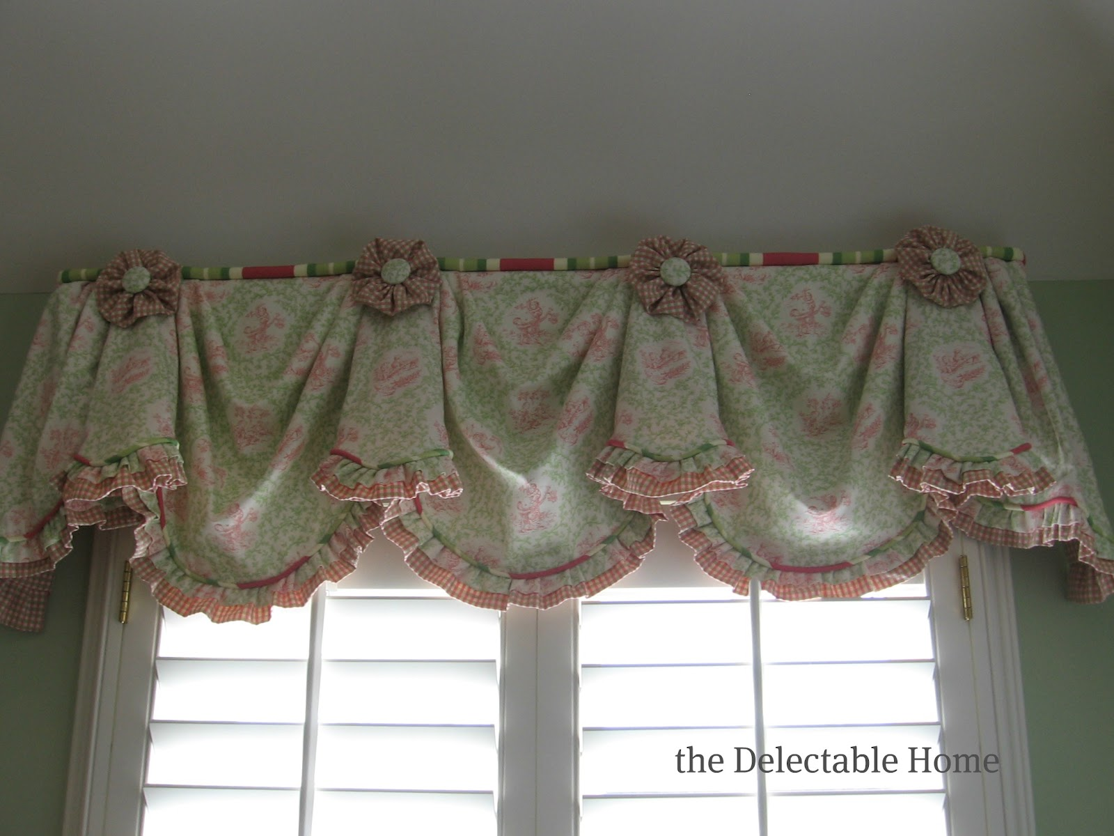 The Delectable Home Pink Amp Green Toile
