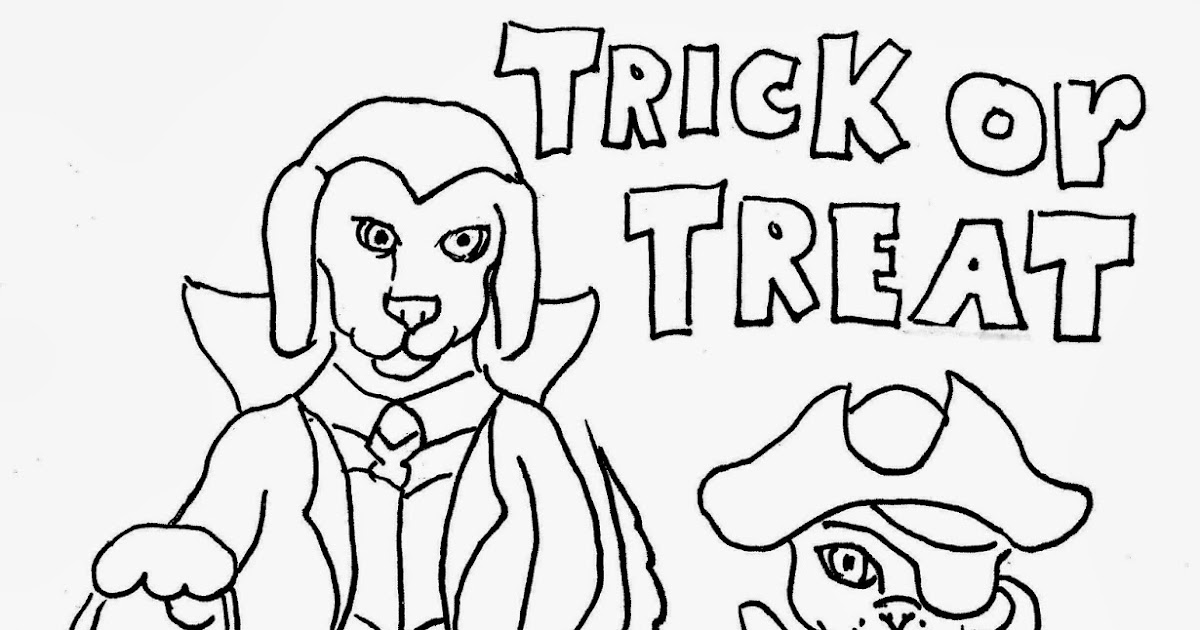 Coloring Pages for Kids by Mr. Adron: Free Trick or Treat ...