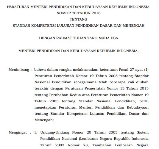 Dalam Penjelasan Pasal  Undang Undang Nomor  Disebutkan Bahwa Standar Kompetensi