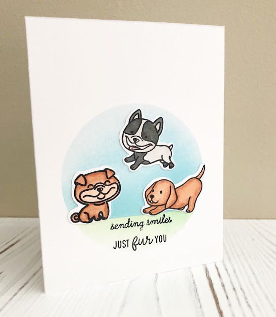 Sunny Studio Stamps: Devoted Doggies Customer Card by Christine